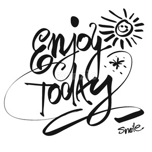Hand written Enjoy Today, Vector Design Stock Vector