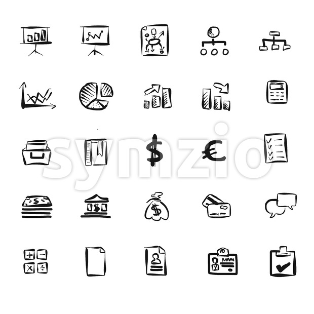 Business Symbol Vector Doodles Stock Vector