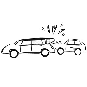 Car Collision Vector Hand drawn Sketch Stock Vector