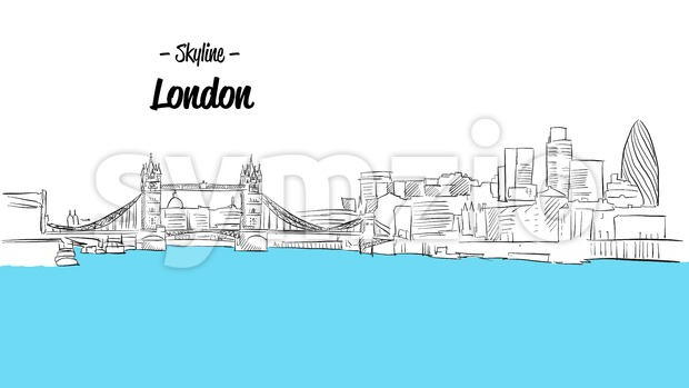 London Skyline Sketch Stock Vector