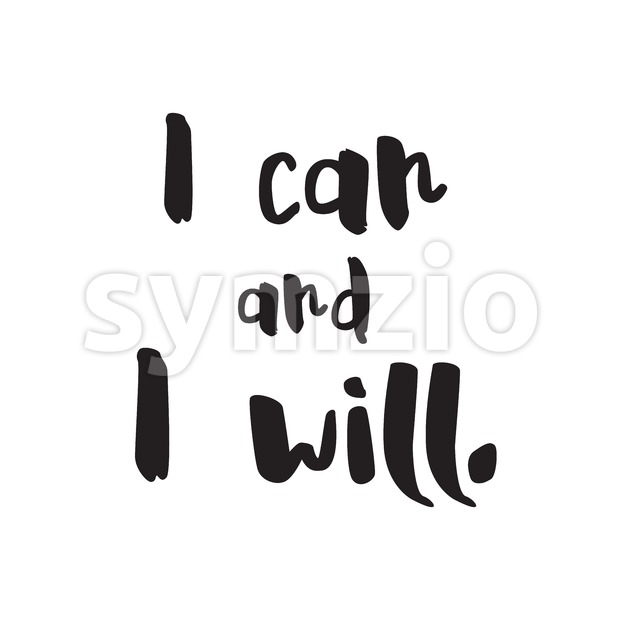 I can and i will vector Lettering Stock Vector