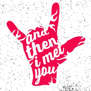 And then i met you on Rock Hand Devil Horn Stock Vector
