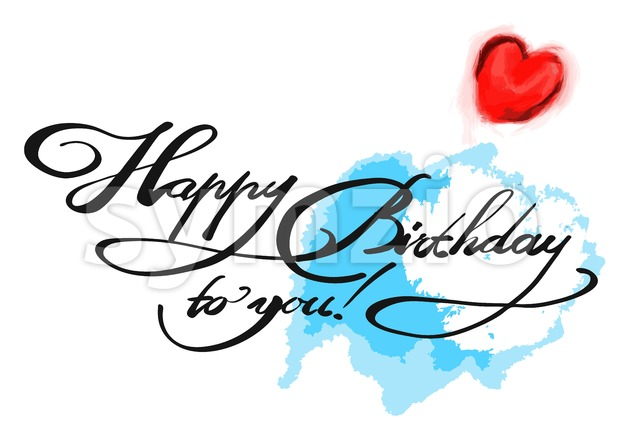 Happy birthday to you with colored Background Stock Vector