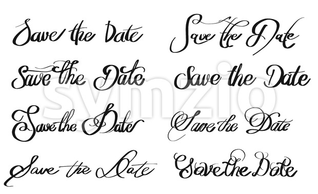 Save the Date various written Quotes Stock Vector