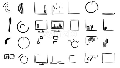 Business Charts Animated Icons Stock Video