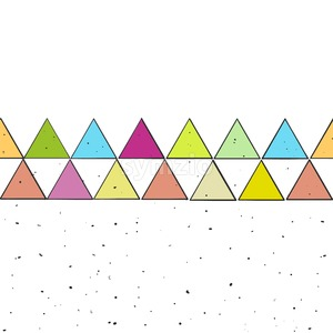 Vector Sketched Colored Triangles Stock Vector