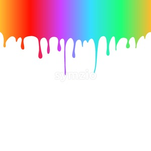 Rainbow Colored Paint Drops Stock Vector