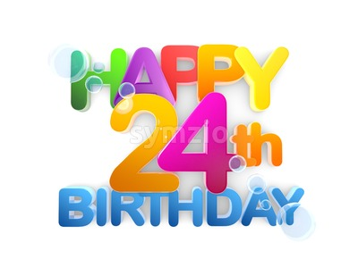 Happy 24th Birthday Title, light Stock Photo