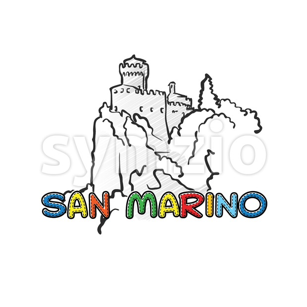 San Marino beautiful sketched icon Stock Vector