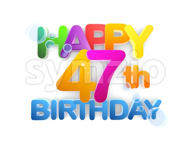 Happy 47th Birthday Title, light Stock Photo