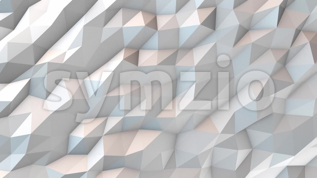 White abstract polygonal background animation, seamless looping. HD resolution. 10 seconds.
