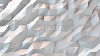White abstract polygonal background animation loop Stock Video