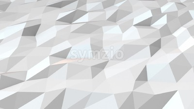 White low poly background loop Stock Video