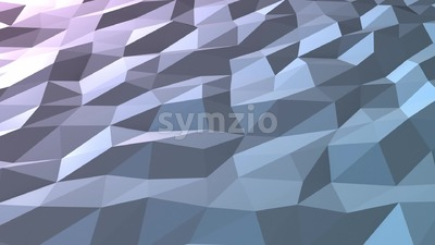 Blue low poly background loop in perspective Stock Video