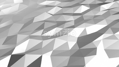 Grey white low polygonal motion loop Stock Video