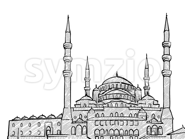 Ankara, Turkey famous Travel Sketch Stock Vector