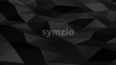 Black polygonal shiny shapes animation loop Stock Video