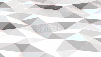 White polygonal surface waving Stock Video