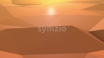 Orange Origami Background motion design Stock Video