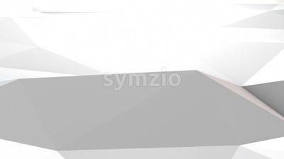 Simple white origami background seamless loop Stock Video