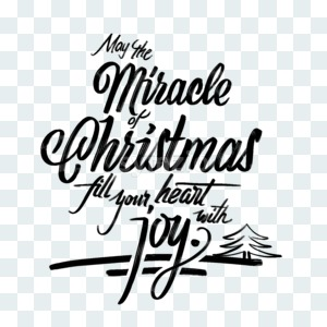 Miracle of Christmas postcard phrase Stock Photo