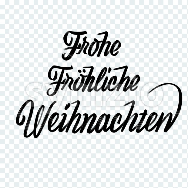 Frohe Fröhliche Weihnachten lettering in german Stock Photo