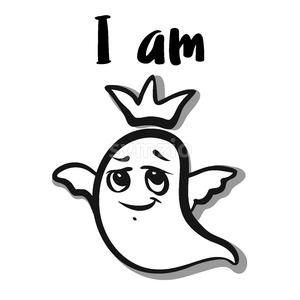 I am King ghost icon Stock Vector