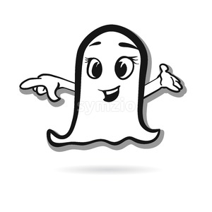 Pointing ghost vector design Stock Vector