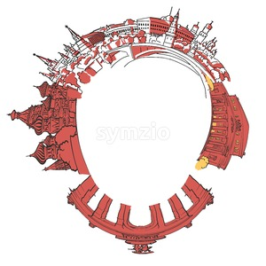 Moscow traveling circle Stock Vector