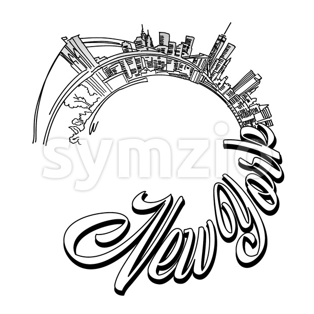 New York panorama cover design Stock Vector